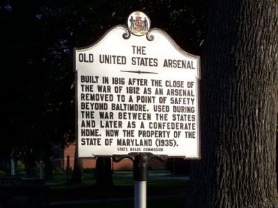 The Old United States Arsenal Marker image. Click for full size.