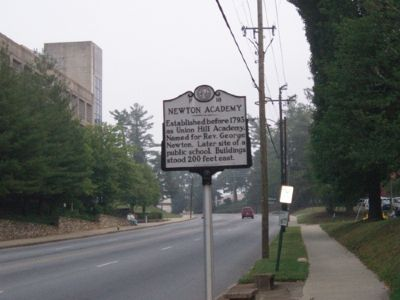 Newton Academy Marker - Facing North image. Click for full size.