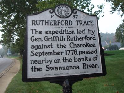 Rutherford Trace Marker - Facing South image. Click for full size.