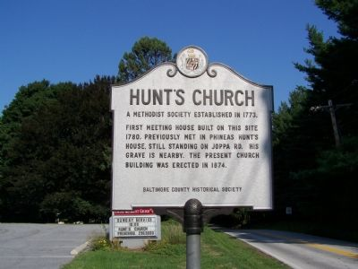 Hunt's Church Marker image. Click for full size.