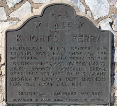 Knight Ferry State Historic Landmarks Plaque image. Click for full size.