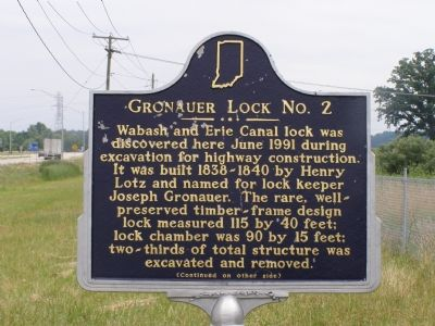 Gronauer Lock No. 2 Marker image. Click for full size.