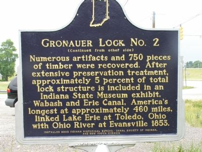 Gronauer Lock No. 2 Marker, Reverse image. Click for full size.