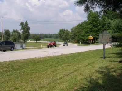 Marker at curve and junction of State Route 17. image. Click for full size.