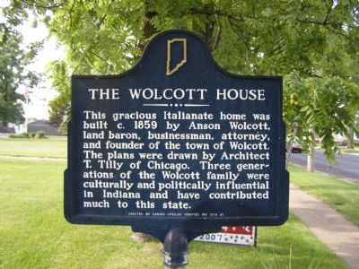 The Wolcott House Marker image. Click for full size.