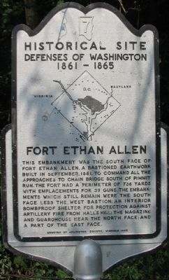 Fort Ethan Allen Marker image. Click for full size.