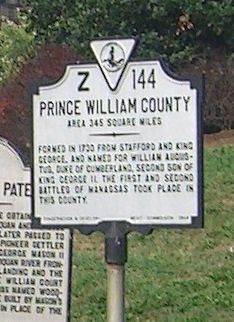 Prince William County Marker image. Click for full size.