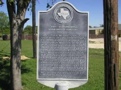 Anti-Slaveholding Union Baptist Cemetery Marker image. Click for full size.