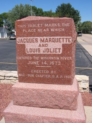 Jacques Marquette and Louis Joliet Marker image. Click for full size.