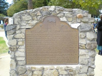 State Historic Landmark #342-Site of Mission Santa Cruz image. Click for full size.