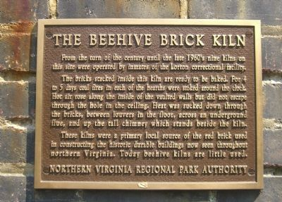 The Beehive Brick Kiln Marker image. Click for full size.