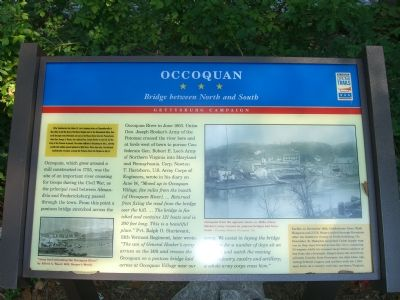 Occoquan - Bridge Between North and South Marker image. Click for full size.