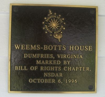 Weems-Botts House Marker image. Click for full size.
