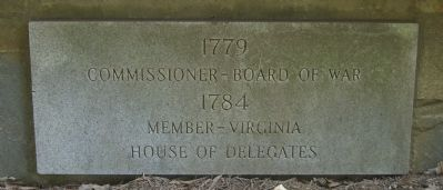 A Marker on the William Grayson Bandstand Memorial image. Click for full size.
