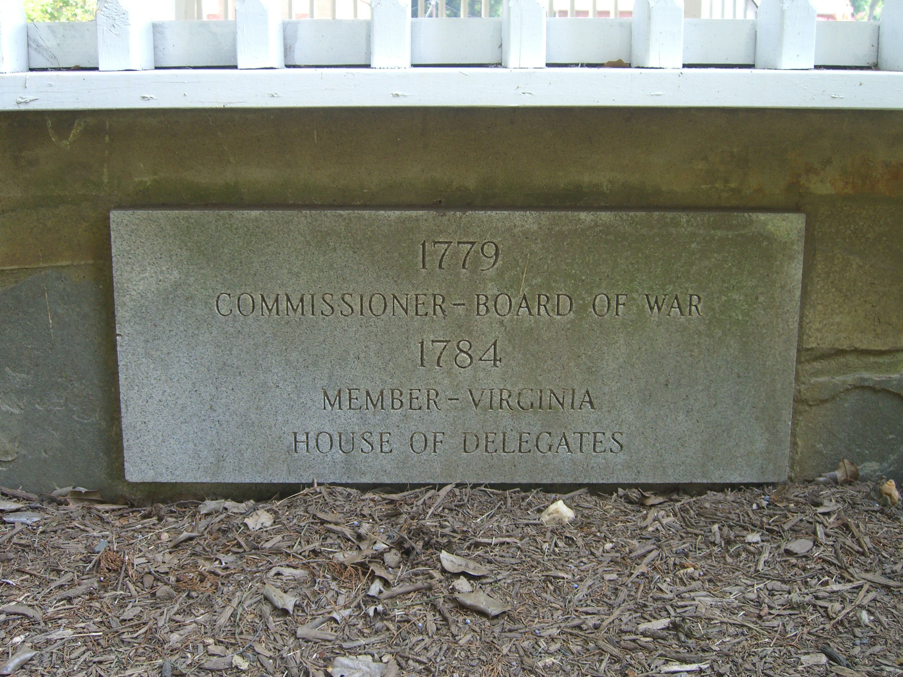 A Marker on the William Grayson Bandstand Memorial