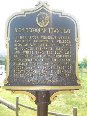 1804 Occoquan Town Plat Marker (Obverse) image. Click for full size.