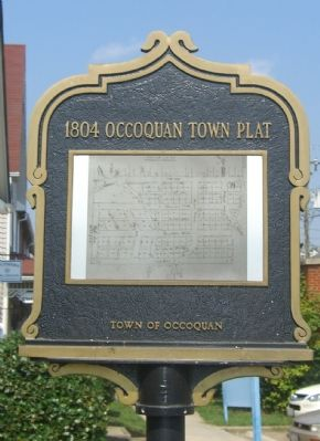 1804 Occoquan Town Plat Marker (Reverse) image. Click for full size.