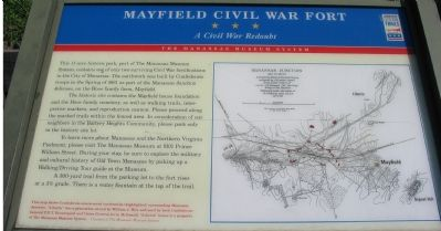 Mayfield Civil War Fort Marker image. Click for full size.