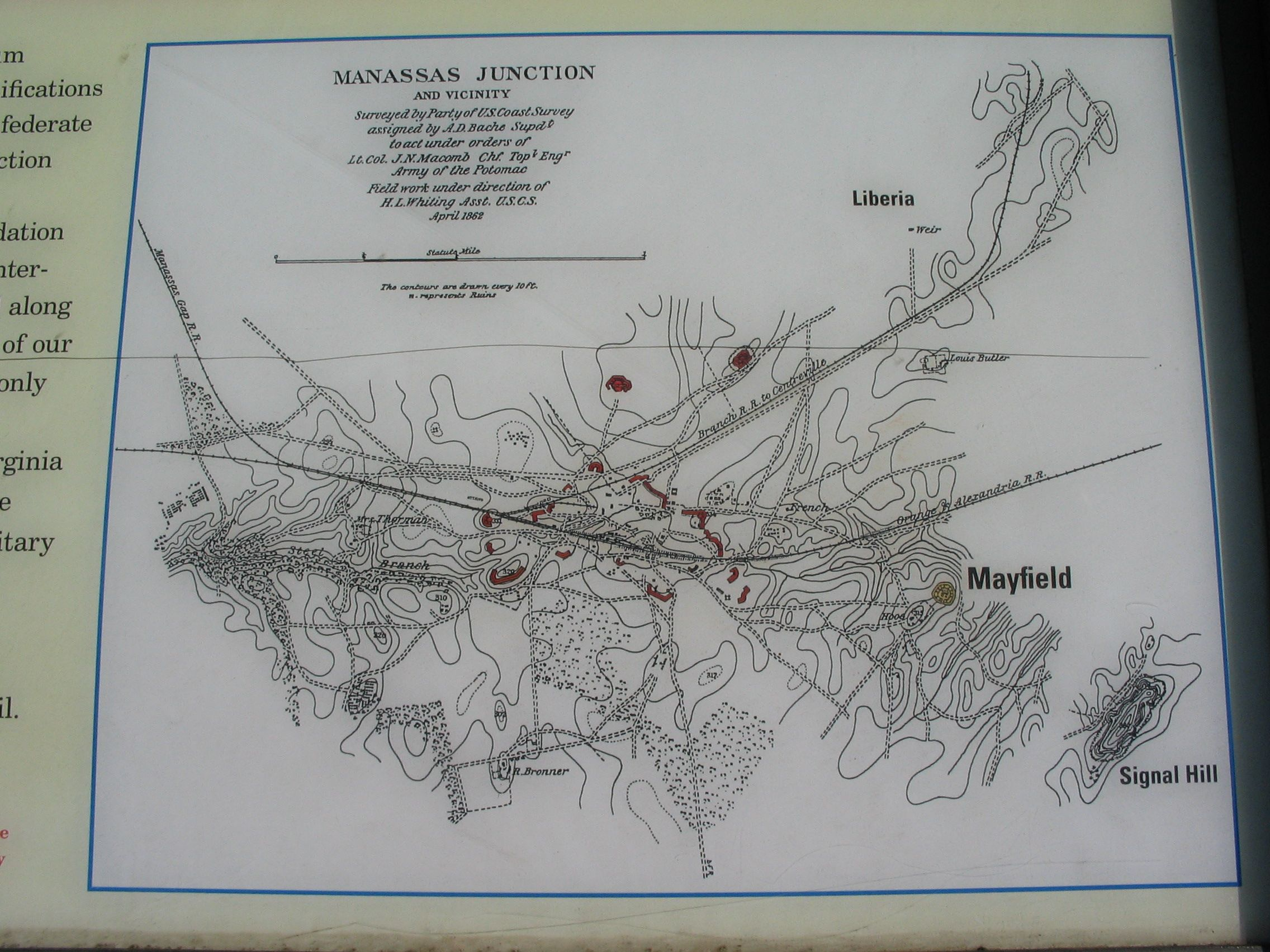 Close Up View of the Map