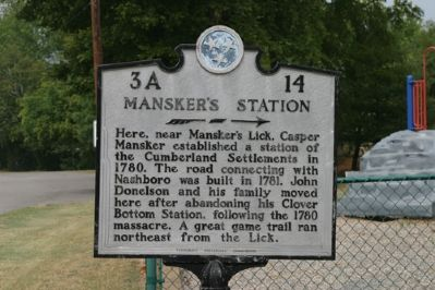 Mansker's Station - Taken Facing West image. Click for full size.