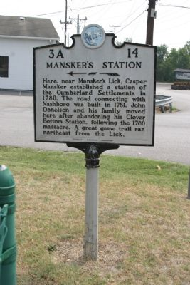 Mansker's Station - Taken Facing East image. Click for full size.