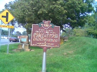 Ohio Canal Ground-Breaking Marker image. Click for full size.