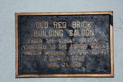 Old Red Brick Building Saloon Marker image. Click for full size.