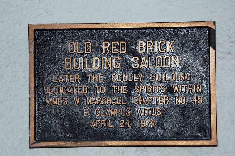 Old Red Brick Building Saloon Marker