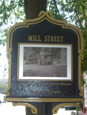 Mill Street Marker (Reverse) image. Click for full size.