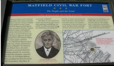 Mayfield Civil War Fort - The People and the Land Marker image. Click for full size.