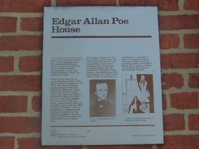 Edgar Allan Poe House Marker image. Click for full size.