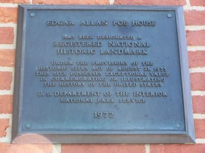 National Historic Landmark Marker on Building image. Click for full size.