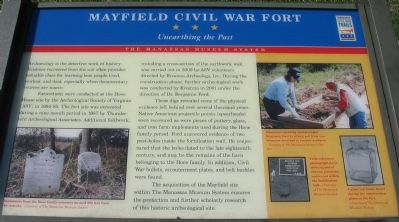 Mayfield Civil War Fort - Unearthing the Past Marker image. Click for full size.