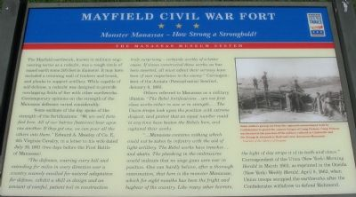 Mayfield Civil War Fort - Monster Manassas - How Strong a Stronghold? Marker image. Click for full size.