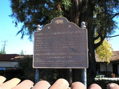 Santa Clara Women's Club Adobe Marker image. Click for full size.