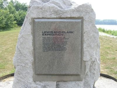 Lewis and Clark Expedition Memorial Stone image. Click for full size.