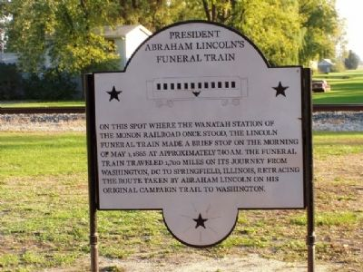 President Abraham Lincoln's Funeral Train Marker image. Click for full size.