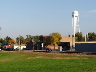 Downtown Wanatah from the Monon Station location. image. Click for full size.