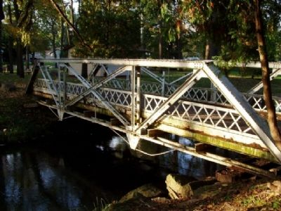 Pony Truss bridge moved to the community park. image. Click for full size.