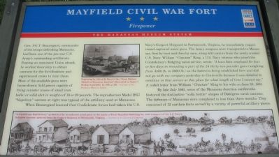 Mayfield Civil War Fort - Firepower Marker image. Click for full size.