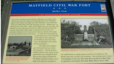 Mayfield Civil War Fort - Quaker Guns Marker image. Click for full size.