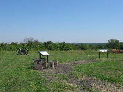 The Quaker Gun Marker is on the Right image. Click for full size.
