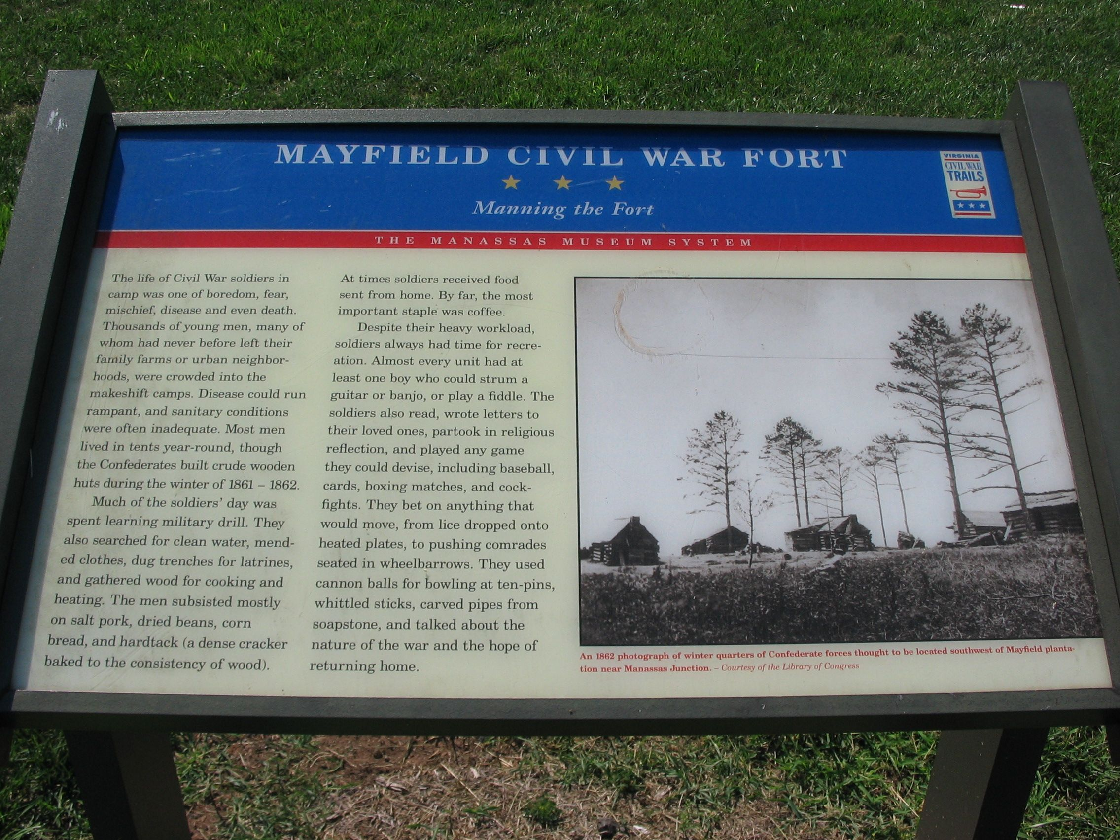 Mayfield Civil War Fort - Manning the Fort Marker