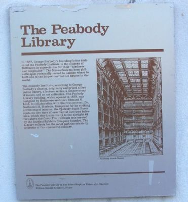 The Peabody Library Marker image. Click for full size.