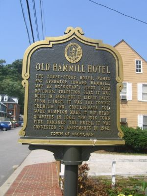 Old Hammill Hotel Marker (Obverse) image. Click for full size.