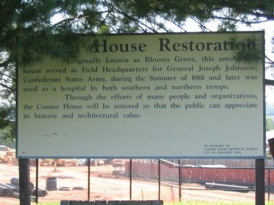 Sign Beside Connor House Detailing Restoration Efforts image. Click for full size.