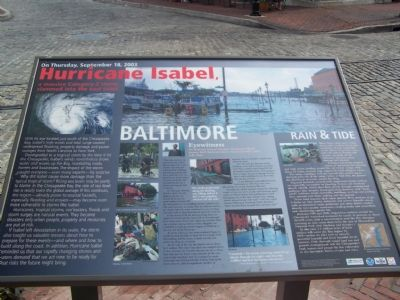 Fells Point was severely flooded during hurricane Isabel Sept. 18, 2003 image. Click for full size.