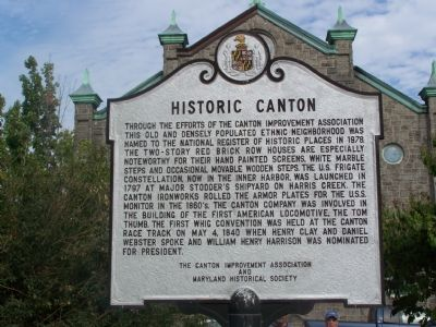 Historic Canton Marker image. Click for full size.