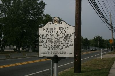 "Mother Jones ""Grand Old Champion of Labor"" Marker image. Click for full size."