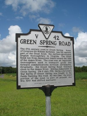 Green Spring Road Marker image. Click for full size.